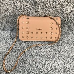 Bebe clutch with strap
